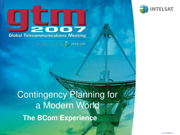contingency planning for a modern world n.