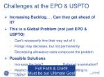 challenges at the epo uspto