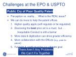 challenges at the epo uspto1