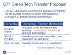 g77 green tech transfer proposal