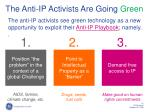 the anti ip activists are going green