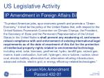 us legislative activity