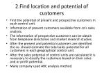 2 find location and potential of customers