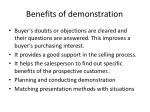 benefits of demonstration