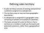 defining sales territory