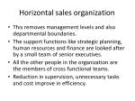 horizontal sales organization