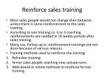 reinforce sales training