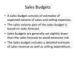 sales budgets