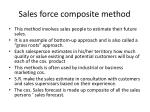 sales force composite method