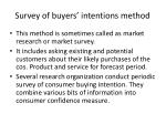 survey of buyers intentions method