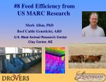 8 feed efficiency from us marc research