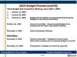 2010 budget process cont d