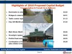 highlights of 2010 proposed capital budget transportation transit in millions
