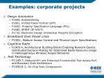 examples corporate projects