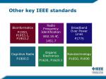 other key ieee standards