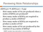 reviewing mole relationships