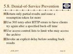5 8 denial of service prevention