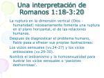 una interpretaci n de romanos 1 18 3 20