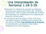 una interpretaci n de romanos 1 18 3 203