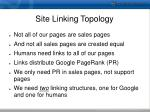 site linking topology