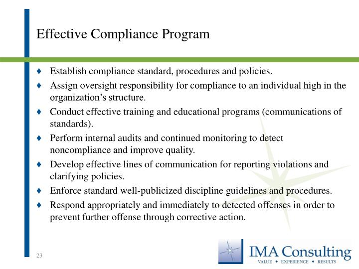 Effective Compliance Program