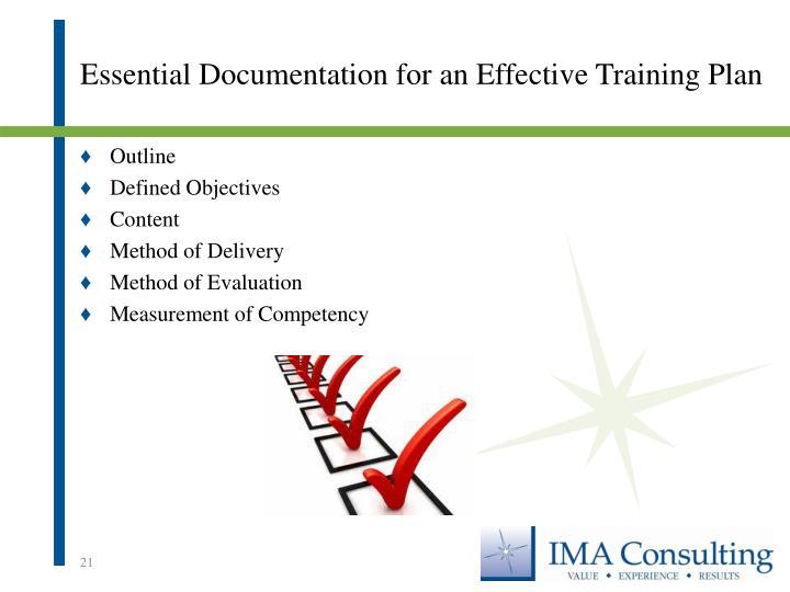 Essential Documentation for an Effective Training Plan