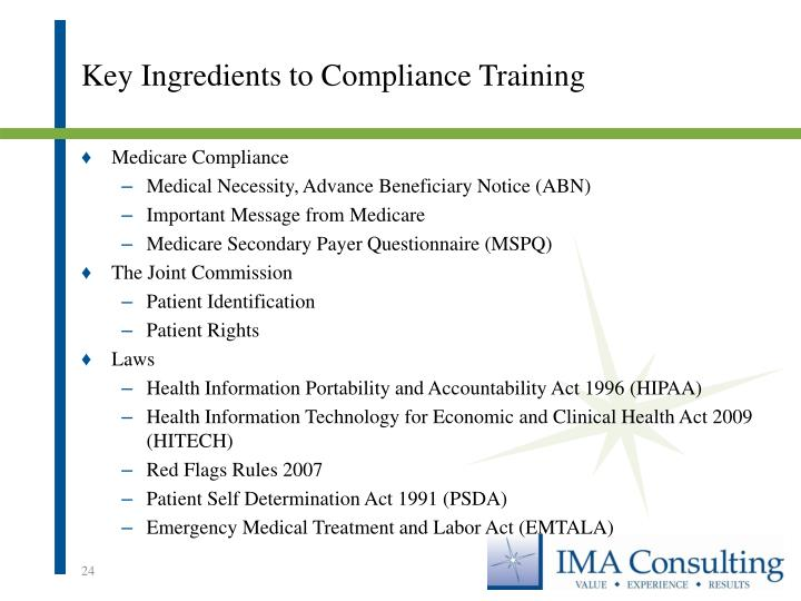 Key Ingredients to Compliance Training