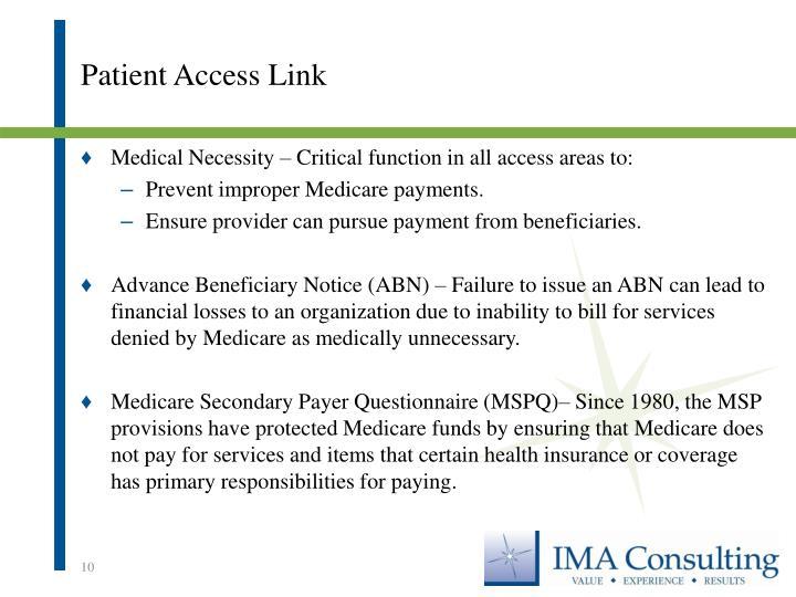 Patient Access Link