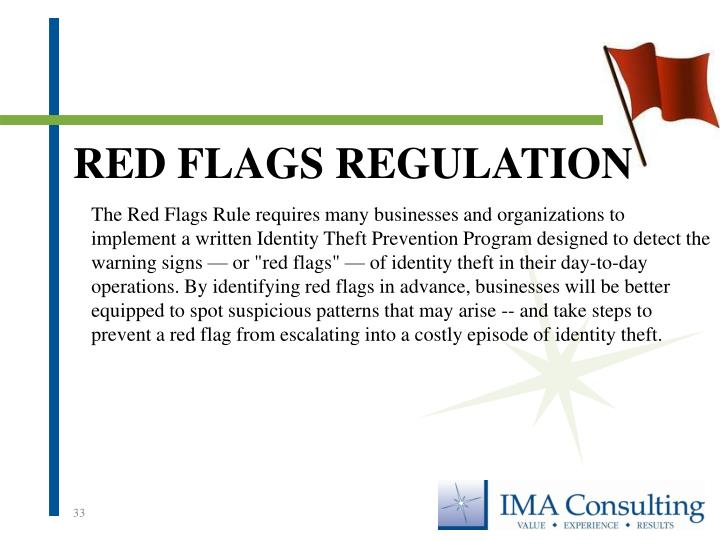 Red Flags Regulation