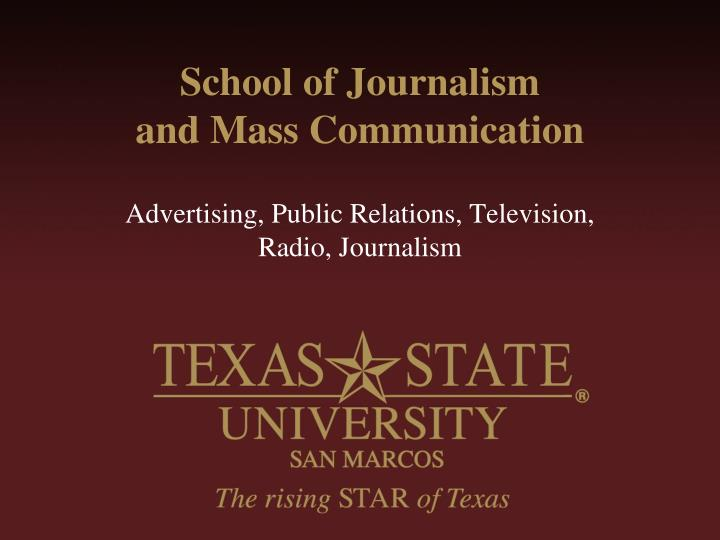 school of journalism and mass communication n.