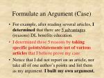 formulate an argument case1