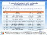 prognosis of patients with metastatic pancreatic cancer is poor