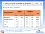 safety main adverse events in accord 11