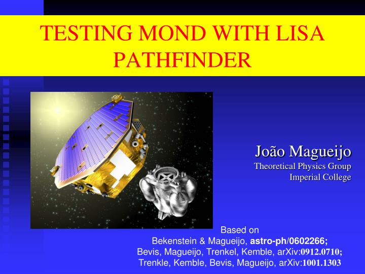 testing mond with lisa pathfinder n.