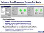 automated tools measure and enhance test quality