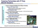 fostering partnerships with 3 rd party bscan solutions