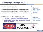 low voltage challenge for ict