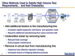 other methods used to satisfy high volume test requirements and their drawbacks