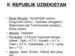 ii republik uzbekistan