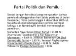 partai politik dan pemilu