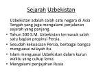 sejarah uzbekistan