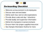 on boarding checklist