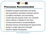 processes recommended