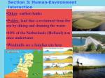 section 3 human environment interaction