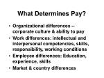 what determines pay
