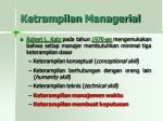 ketrampilan managerial