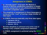 assignment in cobol