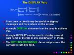 the display verb
