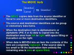 the move verb