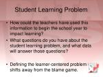 student learning problem